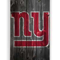 Wood With New York Giants for Iphone 4 / 4s Hard Cover Plastic