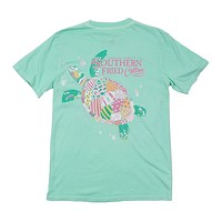 Myrtle the Turtle Tee in Julep by Southern Fried Cotton