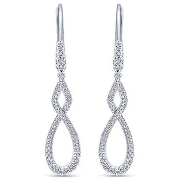 "Gabriel Diamond Dangle ""Twist"" Earrings"