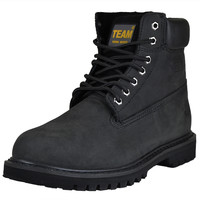 Mens Boots Oil Resistant Steel Toe Work or Hiking Shoes Black SZ