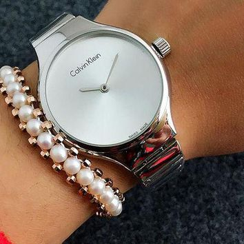 DCCKJ1A CK Calvin Klein Watch man women  fashion Watch F-Fushida-8899 Silver-white surface