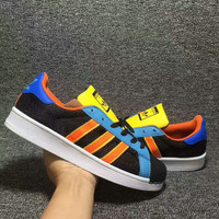 Adidas shell  Trending Fashion Casual Sports Shoes multicolor H-AHXF