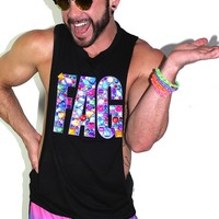 FAG Jeweled Low Arm Tank-Black