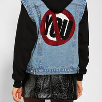 Urban Outfitters - UNIF No You Hooded Denim Jacket