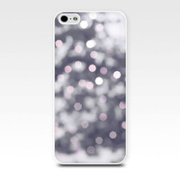 iphone 6 case bokeh iphone case 5s abstract iphone case 4s fairy lights iphone case 5 winter iphone case 4 gray pink pastel snow lights case