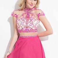 Two Piece Dress with Cap Sleeves by Rachel Allan