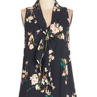 ModCloth Vintage Inspired Mid-length Sleeveless Strive to Thrive Top in Floral