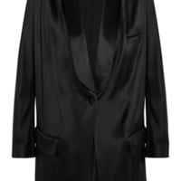 Givenchy - Blazer in black silk-satin