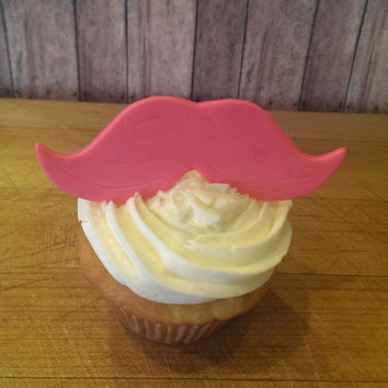 Girly Pink Moustache Party! Set of 12 (one dozen)
