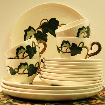 Poppy Trail Metlox California IvyDishes Ceramic Hand -painted Circa 1960's