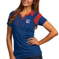 New York Rangers Antigua Women's Score T-Shirt – Royal Blue