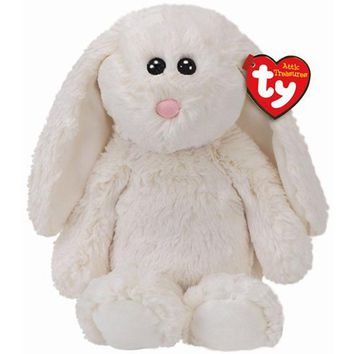 """Pyoopeo Ty Attic Treasures 6"""" 15cm Pearl the Cream Bunny Plush Regular Soft Fluffy Stuffed Animal Collectible Doll Toy with Tag"""