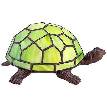 Green Tiffany Shell Turtle Accent LED Lamp - #4W233 | Lamps Plus
