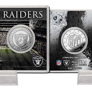 Oakland Raiders Silver Coin Card - Stadium