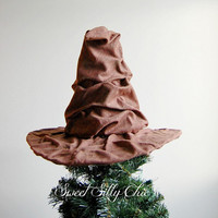 The Sorting Hat Tree Topper, Harry Potter Sorting Hat Christmas Tree Topper