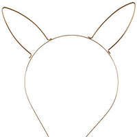 MKL Accessories Headband Bunny Ear Gold