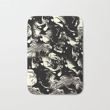 Abstract Roses Bath Mat by MaksciaMind