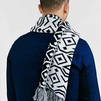 Geo Pattern Knit Scarf-