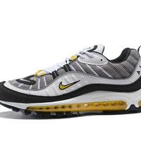"Supreme x NikeLab Air Max 98 ""White&Grey Yellow"" Men Sneaker"