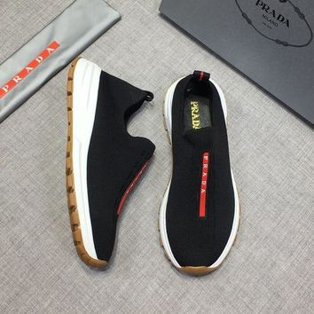DCCK PRADA Fashion Men Casual Running Sport Shoes Sneakers Slipper Sandals High Heels Shoes