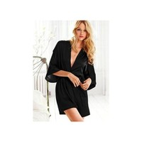Victorias Secret Black Silk Robe 😍😍 sold