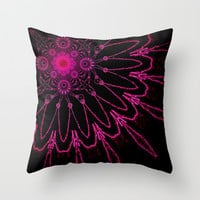 Electric Flower Fushia Throw Pillow by 2sweet4words Designs
