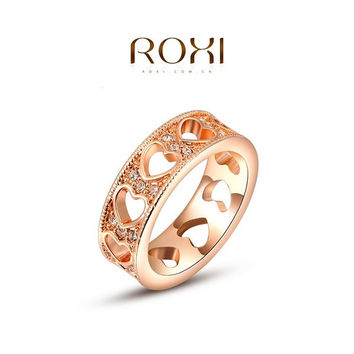 ROXI Luxury Heart Shaped Around Ring 18K Rose Gold / White Gold Plated Inlaid Crystal Elegant Tin Alloy Ring Fashion Jewelry 's For Women [7860953543]