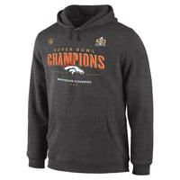 Men's Denver Broncos Dark Gray Super Bowl 50 Champions Trophy Collection Locker Room Hoodie