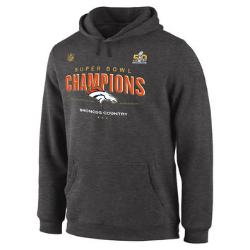 Men s Denver Broncos Dark Gray Super Bowl 50 Champions Trophy Co a941d1560