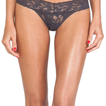 Hanky Panky Signature Petite Low Rise Thong in Charcoal