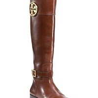 "Tory Burch ""Patterson"" Flat Riding Boots 