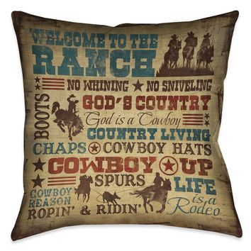 Welcome to the Ranch Indoor Decorative Pillow