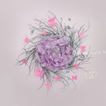 Newborn Digital Backdrops, digital backdrop, digital prop, wreath, butterfly nest, photographie bébé, Neugeborene, bambino fotografia