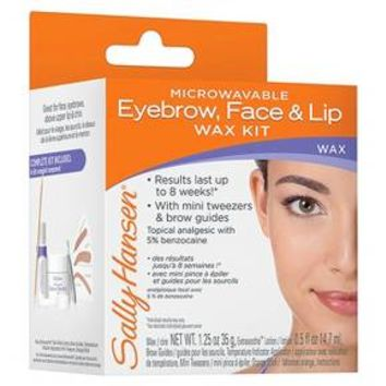 Sally Hansen Microwavable Eyebrow, Face & Lip Wax Kit