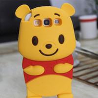 Winnie the Pooh 3D Soft Silicone Case Cover For Samsung Galaxy S3 S III I9300