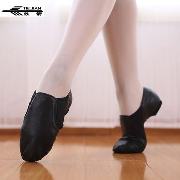 Stretch Female Ballet Shoes Genuine Leather Jazz Latin Salsa Dance Shoes Women Teachers Cat Claw Excercise Shoes Sneakers 82