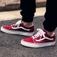 Vans Classics Old Skool Green/Wine red Sneaker H 8-16