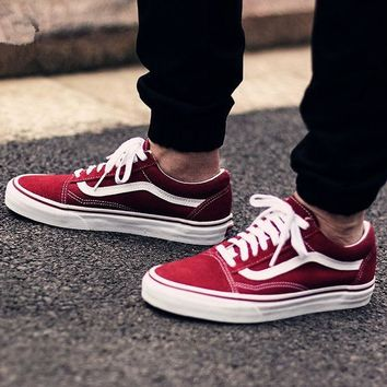 Vans Classics Old Skool Green Wine red Sneaker H 8-16 7455cbc50b30