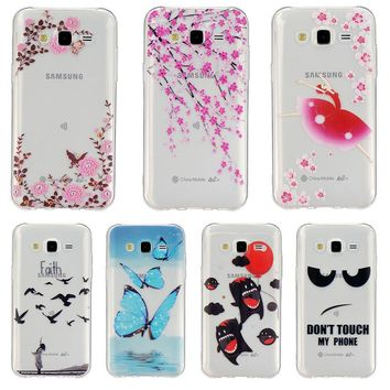 AKABEILA Phone Case Cover For Samsung Galaxy J5 2015 SM-J500F Relief Cover Case Shell Mobile Phone Accessories YC955 j500 J500