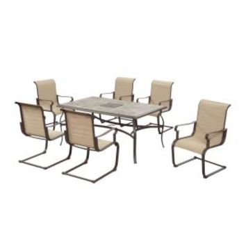 Hampton Bay, Belleville 7-Piece Patio Dining Set, FCS80198ST at The Home Depot - Tablet