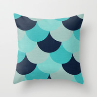 the blue petals Throw Pillow by her art