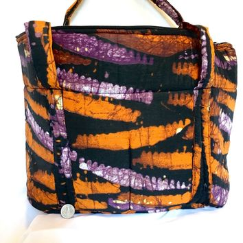 Orange Tie Dye Shoulder Bag