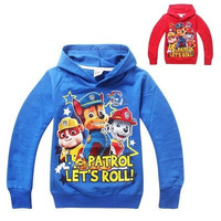 Paw Patrol Print Boys Long Sleeve Sweatshirt Tops Hoodies Kids Baby Clothes 2-7Y [9302866378]