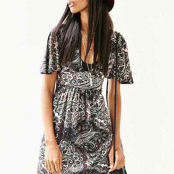 Ecote Flutter-Sleeve Mini Dress