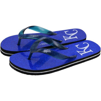 Kansas City Royals Women's Glitter Flip Flops - Royal Blue