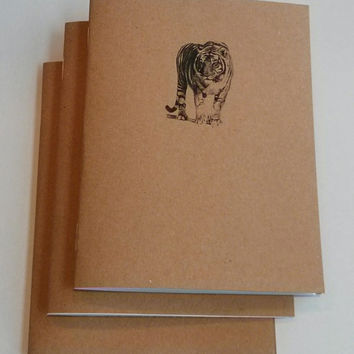 Bengal Tiger Mini Notebook - diary, journal, party favors, multipack