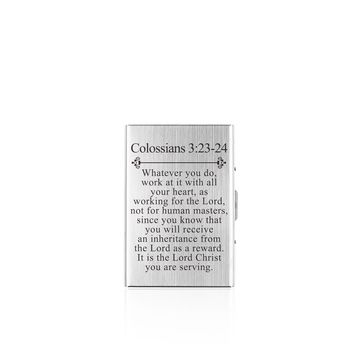 Scripture RFID Wallet Colossians 3:23-24
