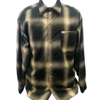 Brown Long Sleeve Flannel Shirt