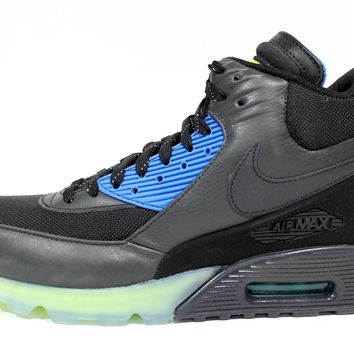 Nike Men's Air Max 90 Sneakerboot Ice Black/Blue Boots 684722 001