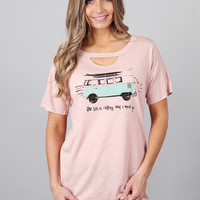 Beach Bus Cut Out Tee